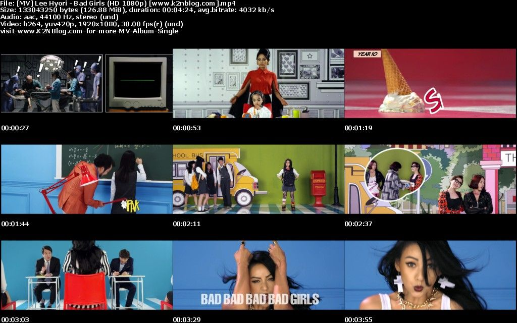 [MV] Lee Hyori - Bad Girls [HD 1080p Youtube]