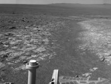 This 360-degree panorama assembled<br /> from images taken by the navigation<br /> camera on NASA&#39;s Mars Exporation<br /> Rover Opportunity shows terrain<br /> surrounding the position where the<br /> rover spent its 3,000th Martian day,<br /> or sol, working on Mars (July 2, 2012).<br /> Image credit: NASA/JPL-Caltech<br /> <a href='http://www.nasa.gov/mission_pages/mer/multimedia/pia16122.html' class='bbc_url' title='External link' rel='nofollow external'>� Full image and caption</a>