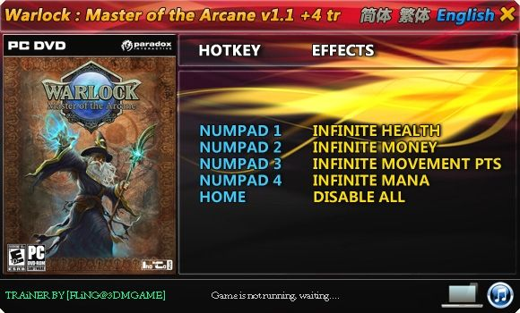 20120509220635 Warlock: Master of the Arcane 1.0 1.1.1.25 +4 Trainer