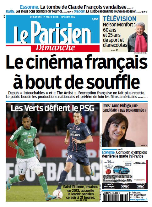Le Parisien dimanche 17 Mars 2013 