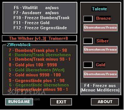 thewitcher8trainerfor13 The Witcher v1.2 1.3 +8 Trainer